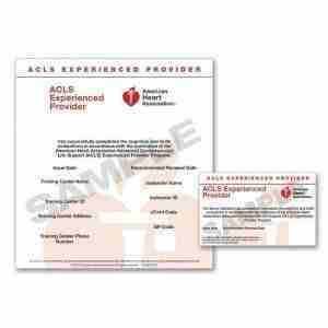 American Heart Association ACLS Experienced Provider Course eCard
